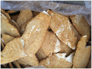 Breaded White fish fillet thin 60-100g