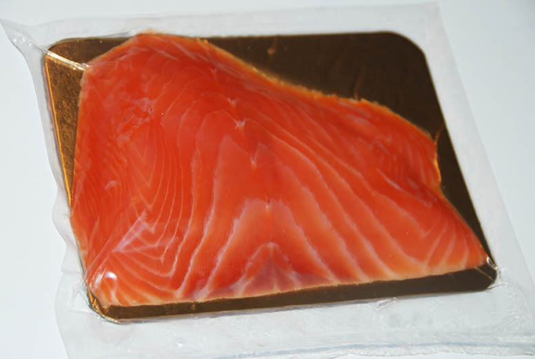 Salted Salmon fillet Sliced 200g vacuum chilled frozen